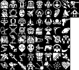 Science fiction icons montage