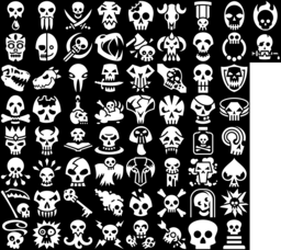 Skull icons montage