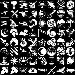 Sky & Weather icons montage