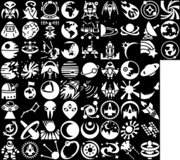 Space icons montage