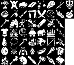 Stone Age icons montage