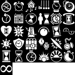Time icons montage