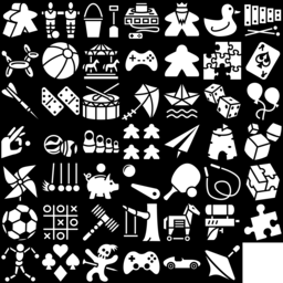 Toy icons montage