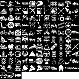 Vehicle icons montage