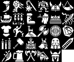 Viking icons montage