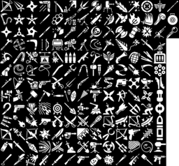 Weapon icons montage